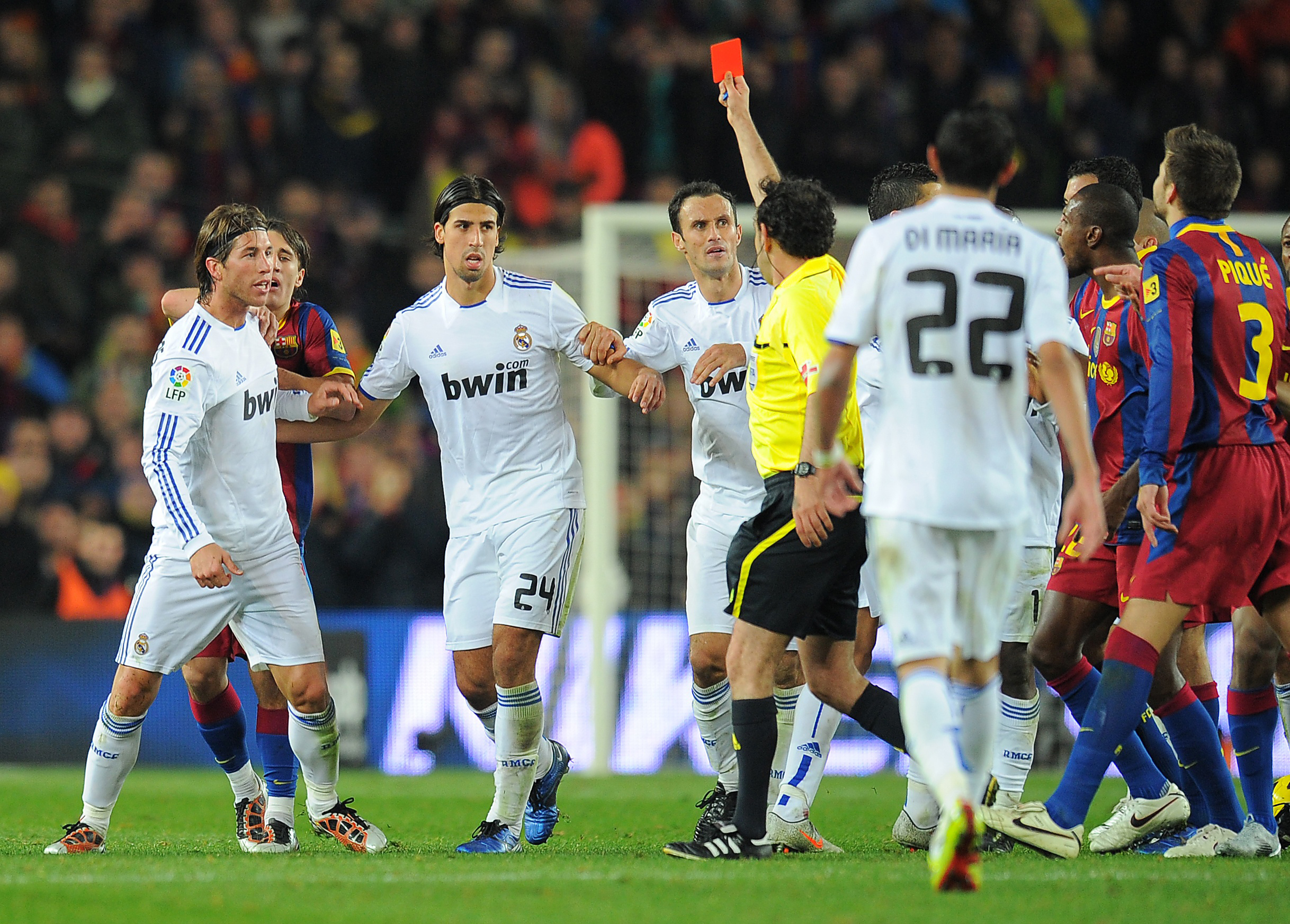 top 3 sergio ramos red cards in el clasico
