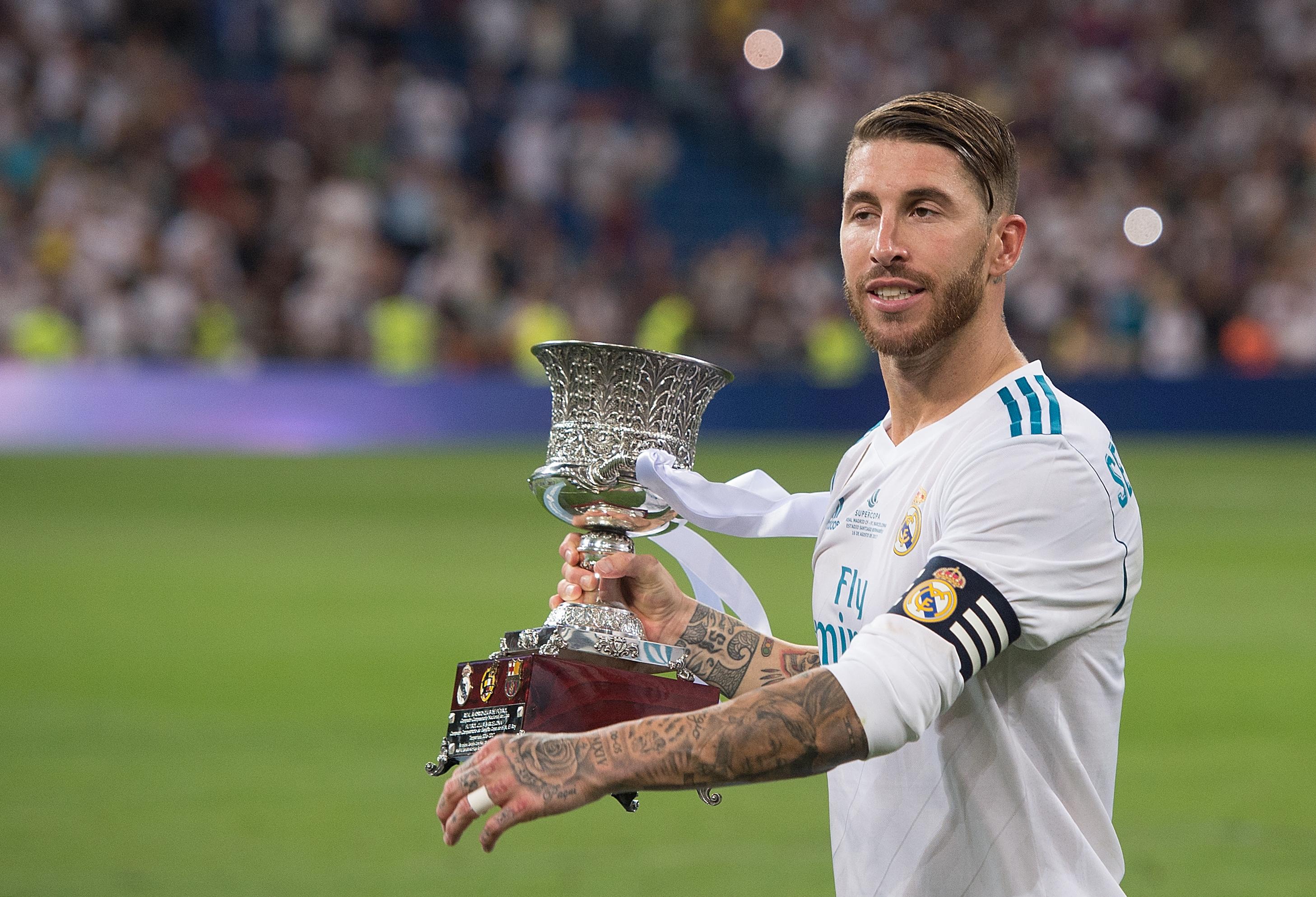 Sergio Ramos Luka Modric and Cristiano Ronaldo win UEFA