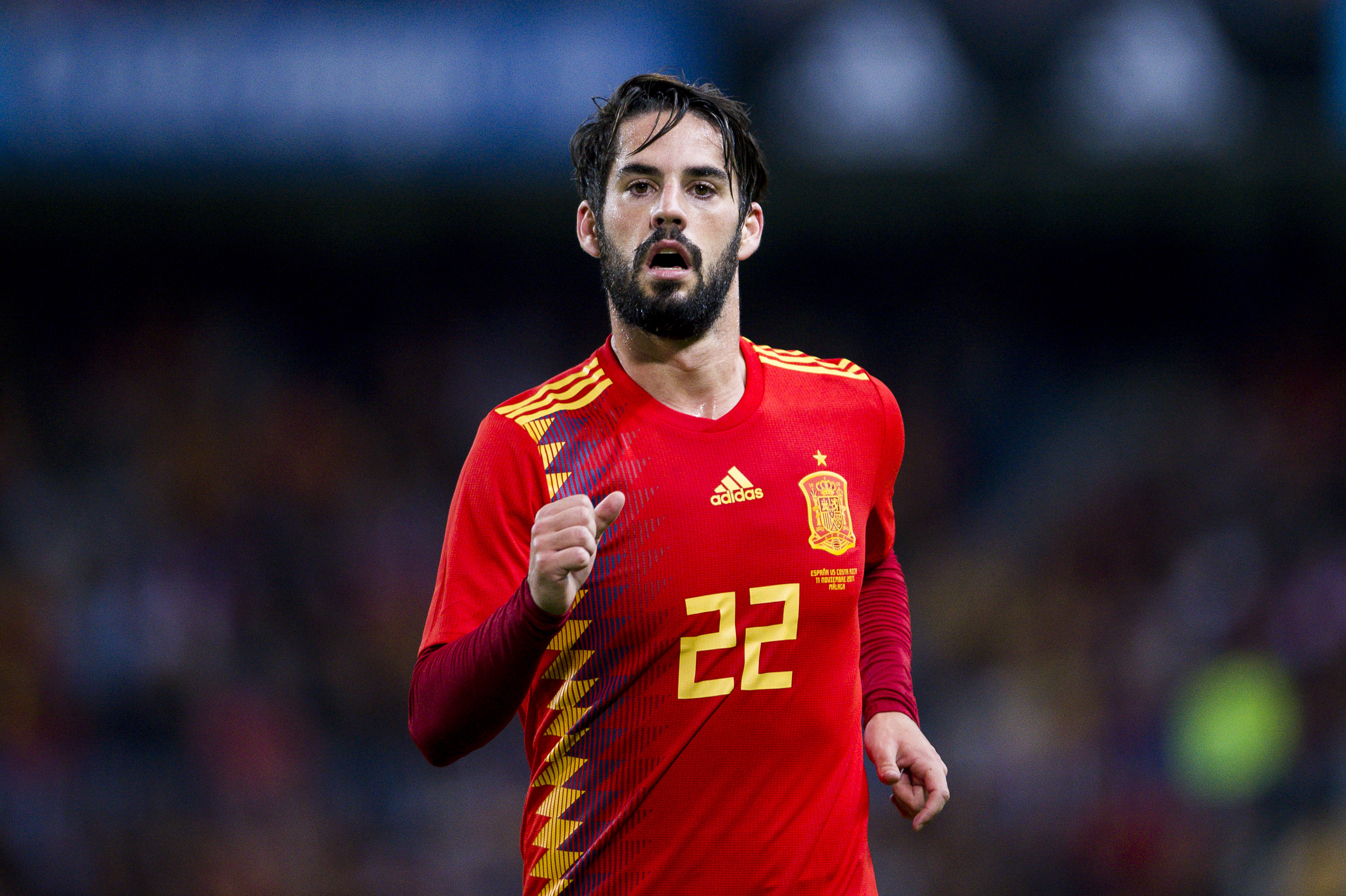 INJURY NEWS Real Madrid s Isco exits Spain match with injury